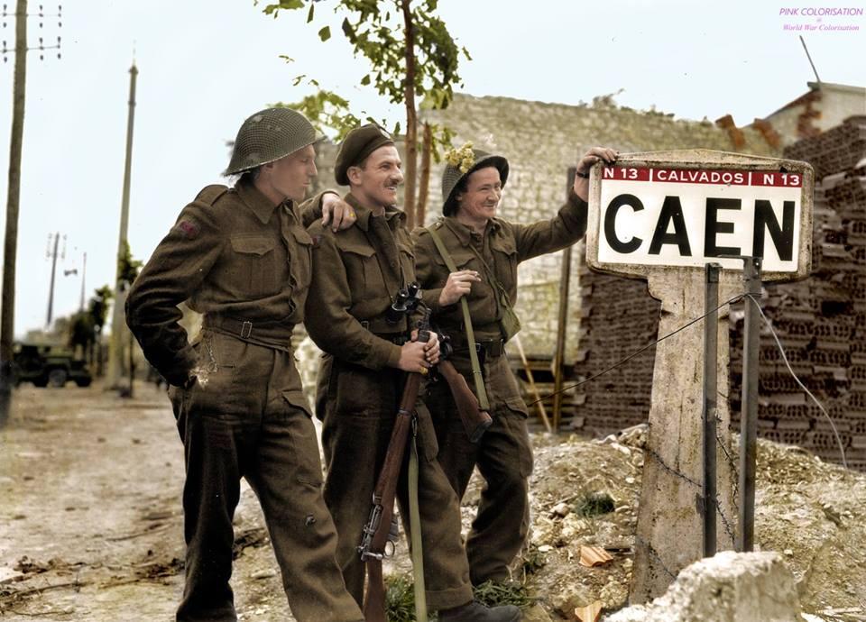 Photos colorisées d'infanterie 1944