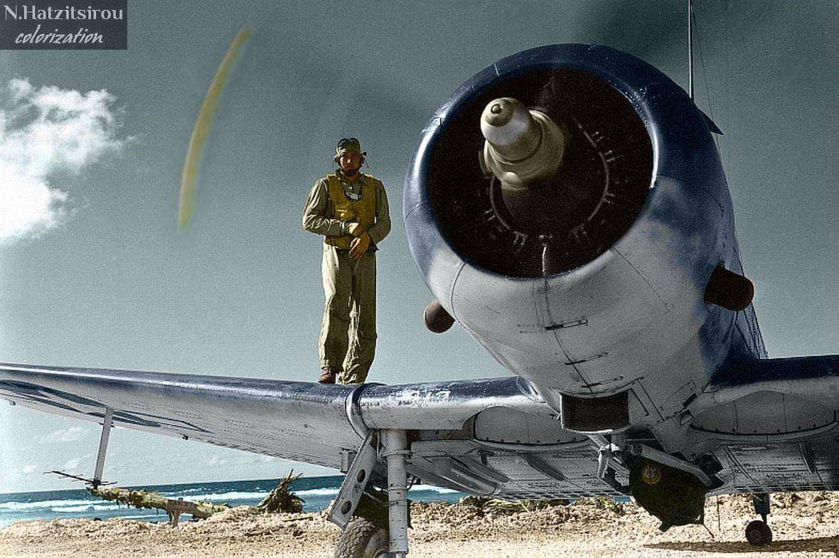 Photos colorisées d'avions 1944