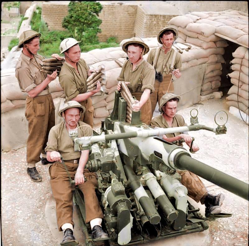 Photos colorisées d'infanterie 1942