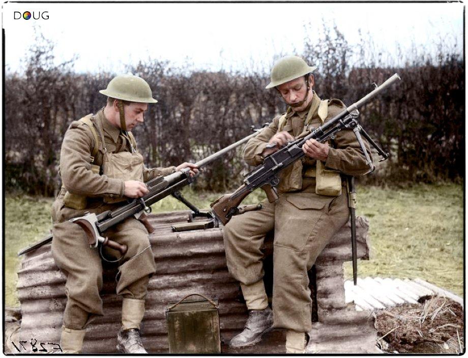 Photos colorisées de l'infanterie anglaise