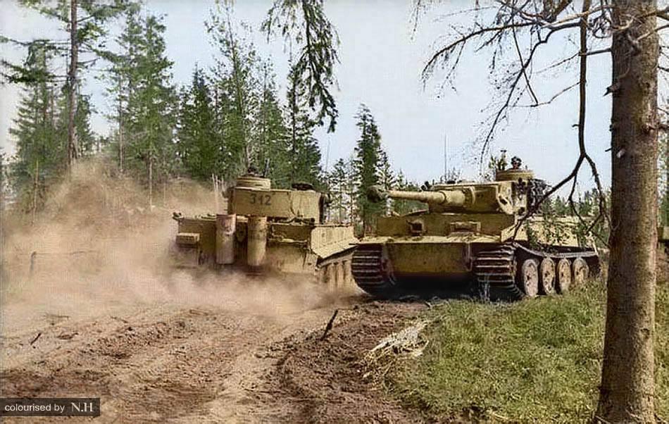 Deux Tiger I en Russie (août 1943)