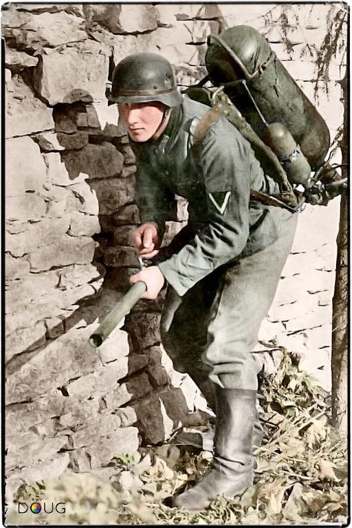 Photos colorisées de l'infanterie allemande