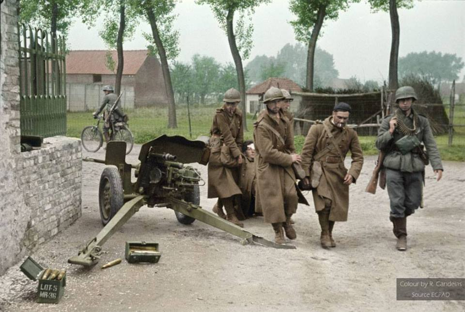 Photos colorisées d'infanterie diverse