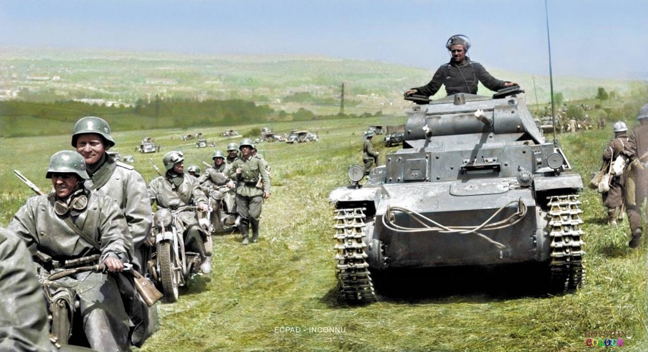 Photos colorisées des blindés allemands