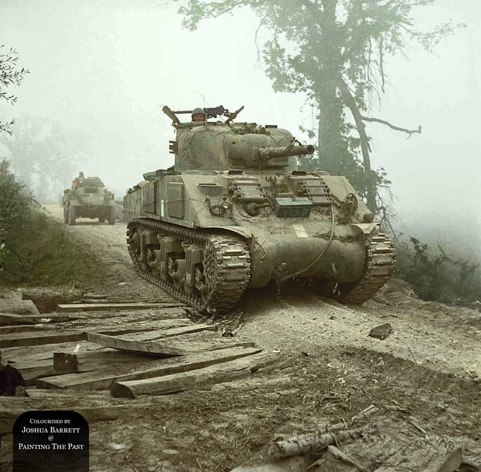 Sherman à Monte Cassino (13 mai 1944)