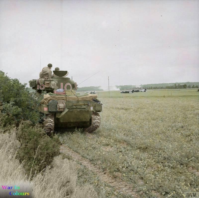 Sherman M4A2 près du Pégasus Bridge (10 juin 1944)