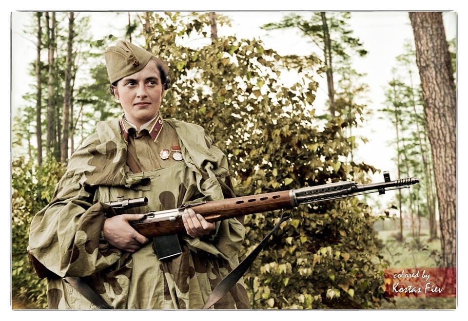 Photos colorisées d'infanterie 1941