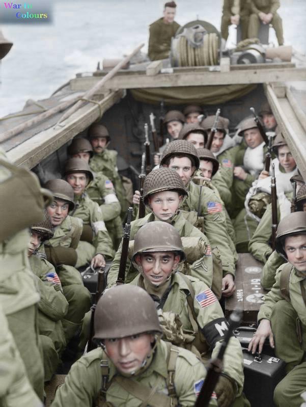 Photos colorisées de l'infanterie américaine