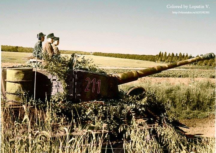 Tigre I lors de la bataille de Normandie (13 août 1944)