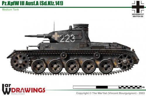 Panzer III ausf. A côté