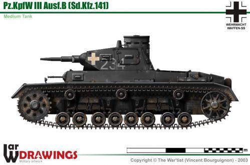 Panzer III ausf. B côté