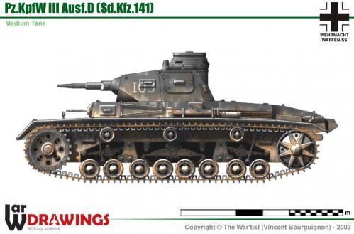 Panzer III ausf. D côté