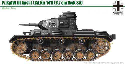 Panzer III ausf. E côté