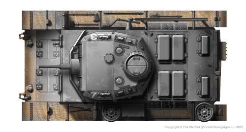 Panzer III ausf. E dessus