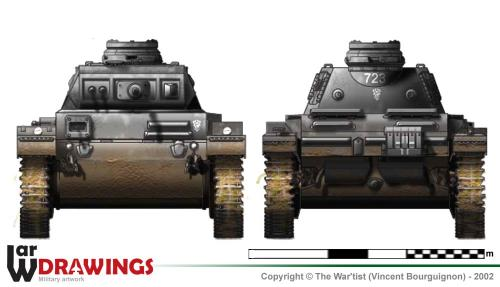 Panzer III ausf. E face et arrière