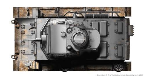 Panzer III ausf. F (début de production) dessus