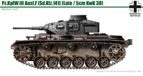 Panzer III ausf. F (fin de production) côté