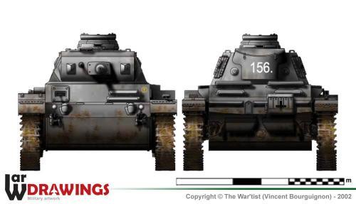 Panzer III ausf. F (fin de production) face et arrière