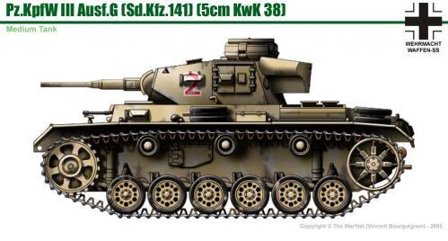 Panzer III ausf. G côté
