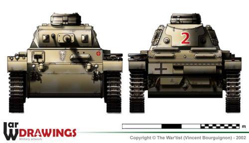 Panzer III ausf. G face et arrière