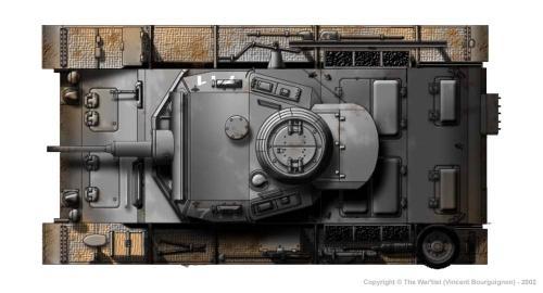 Panzer III ausf. H (début de production) côté