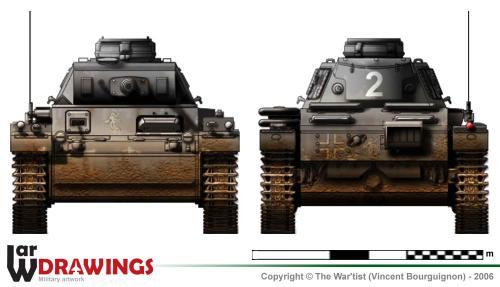 Panzer III ausf. H (fin de production) face et arrière