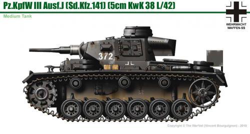 Panzer III ausf. J (début de production) côté