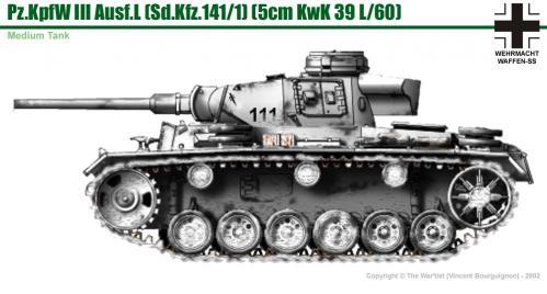 Panzer III ausf. L (début de production) côté