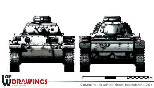 Panzer III ausf. L (fin de production) face et arrière