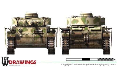 Panzer III ausf. M face et arrière