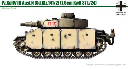 Panzer III ausf. N côté