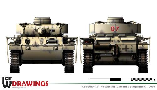 Panzer III ausf. N face et arrière