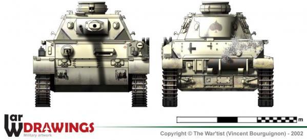 Panzer IV ausf. G face et arrière