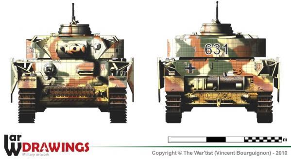 Panzer IV ausf. H face et arrière