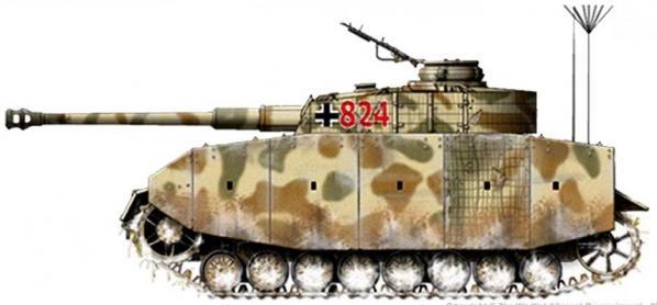 Panzer IV ausf. J côté