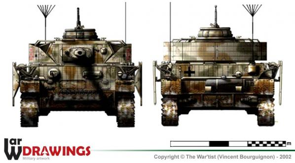Panzer IV ausf. J face et arrière