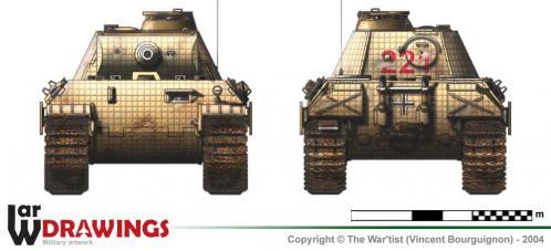 Panther ausf. A (début de production) face et arrière