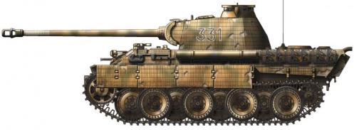 Panther ausf. A (fin de production) côté