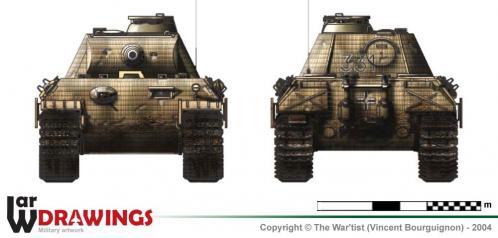 Panther ausf. A (fin de production) face et arrière