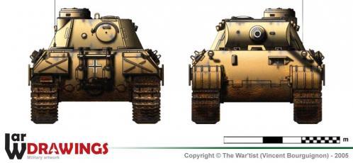 Panther ausf. D1 face et arrière