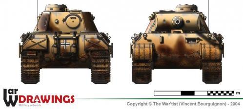 Panther ausf. D2 face et arrière
