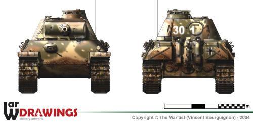 Panther ausf. G (fin de production) face et arrière